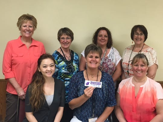 The Fond du Lac Senior Center staff is recognized as a dementia friendly business. Front row, from left: Christina Thor, Mary Otterstatter and Cathy Loomans; back row: Vicki Wiesner, Pat Heyer, Sarah Docter and Katie Fischer.