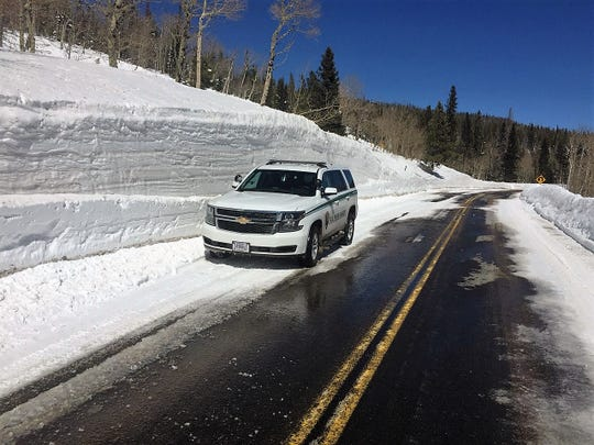 Bear Lake Road, pictured on Friday, is open in Rocky Mountain National Park.