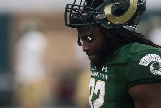 Blood clot scare behind him, CSU football's Marcus McElroy surges toward starting RB spot