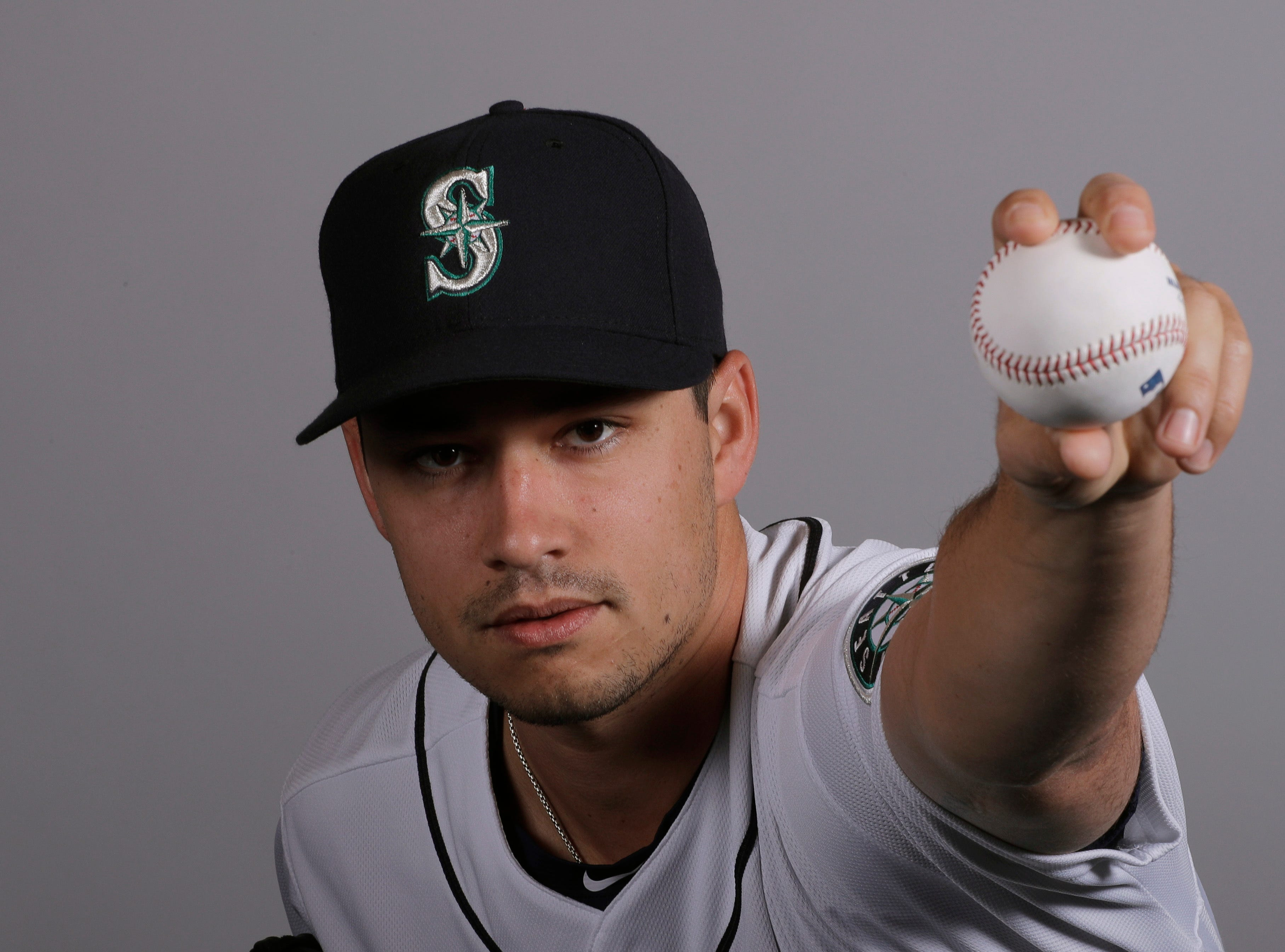 This is a 2019 photo of Marco Gonzales of the Seattle Mariners baseball team. This image reflects the Seattle Mariners active roster as of Monday, Feb. 18, 2019, when this image was taken.