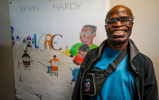 Kevin Hardy, of Lehigh, enjoys working at LARC as well as work out in the community. Hardy is also a quietly remarkable artist. LARC's day program for adults with disabilities.  LARC has been supporting disabled people for over half a century, overcoming funding cuts and social stigma to do so.