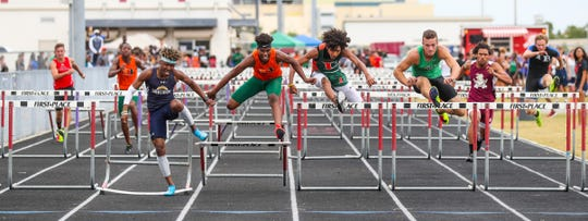 Wolfpack Invitational track meet at South Fort Myers, March 15, 2019. A look at a few of the field events from the morning.