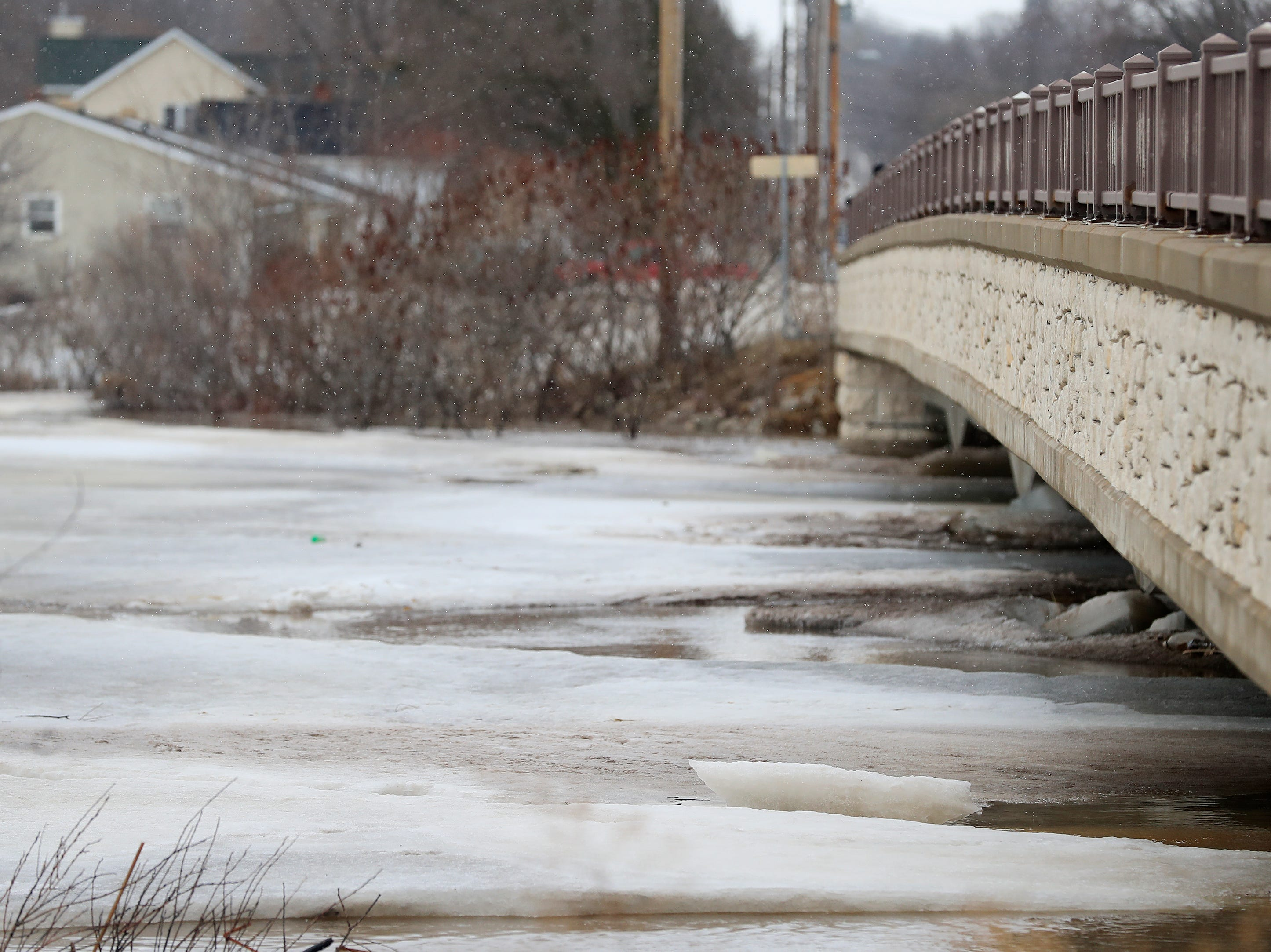 The Allouez Ave bridge over the East river is shown on Friday, March 15, 2019 in Bellevue, Wis.
