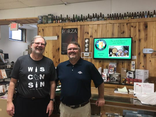 John Parsons, left, and Doug Feck bought House of Homebrew in early 2019.