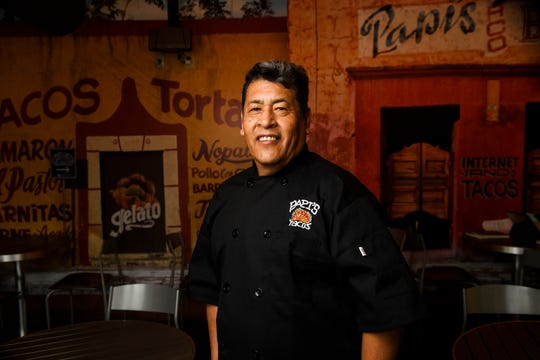 "Jorge ""Papi"" Barrales poses for a portrait at Papi's Tacos Friday, March 15, 2019."