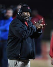 Hillcrest's head coach,Greg Porter Hillcrest hosts Spartanburg during the 2nd round of the AAAAA playoffs on Friday, November 10, 2017.