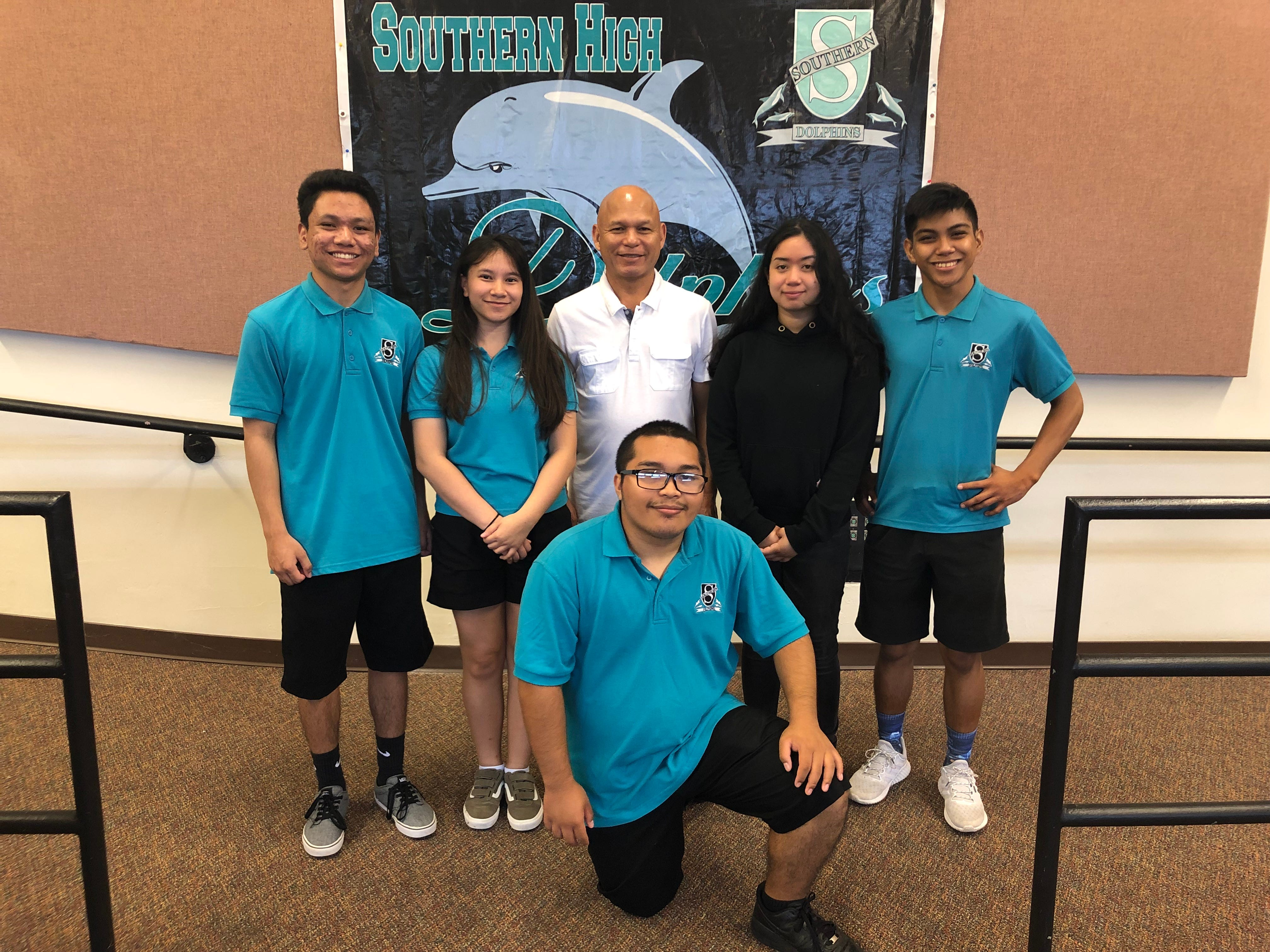Southern Variety along with their band director, Larry Franquez on March 15, 2019 at Southern High School. Not pictured: Cassandra Abuelencia.