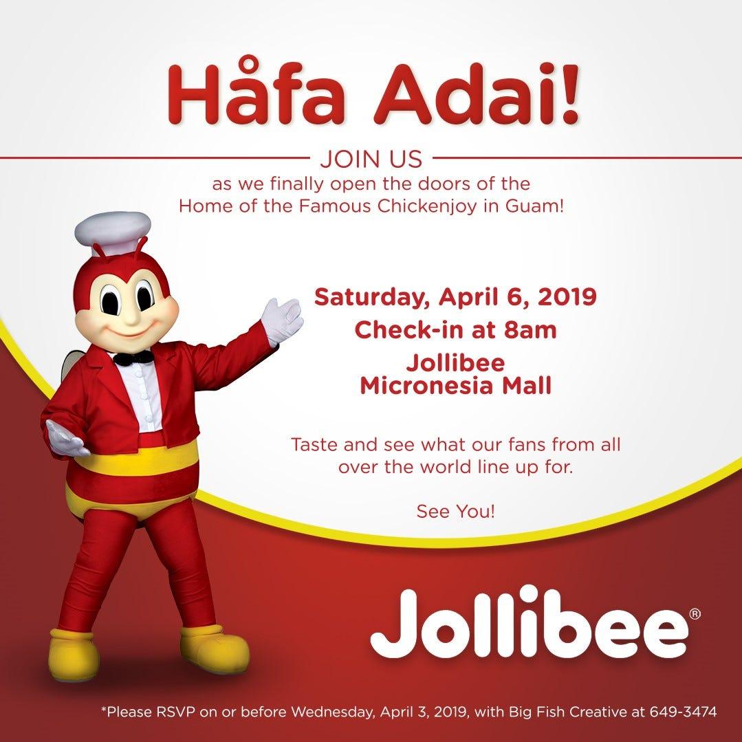 Jollibee returns to Guam April 6