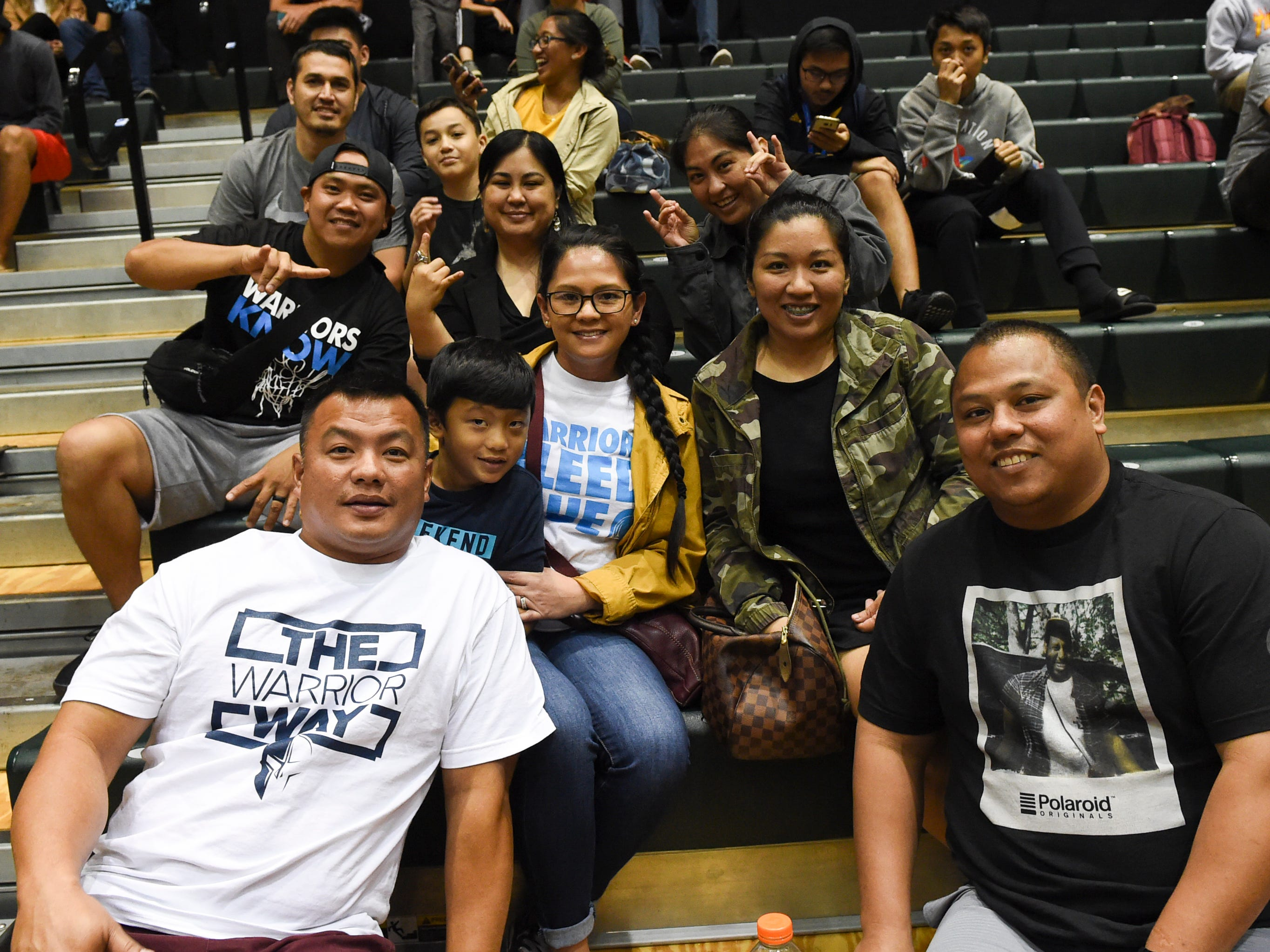 Basketball fans make it to the IIAAG Boys' Basketball Championship game at the University of Guam Calvo Field House in Mangilao, March 15, 2019.
