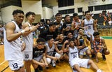 The St. Paul Warriors win the IIAAG Boys' Basketball Championship against the Father Duenas Friars, March 15, 2019.