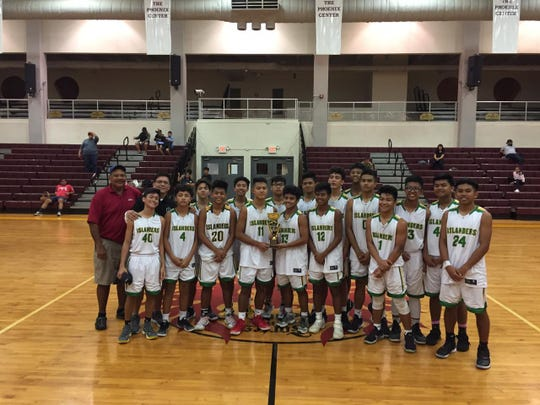 The John F. Kennedy Islanders are the 2019 IIAAG High School Boys junior varsity champions, following their win over the Okkodo Bulldogs March 14 at the FDMS Phoenix Center.