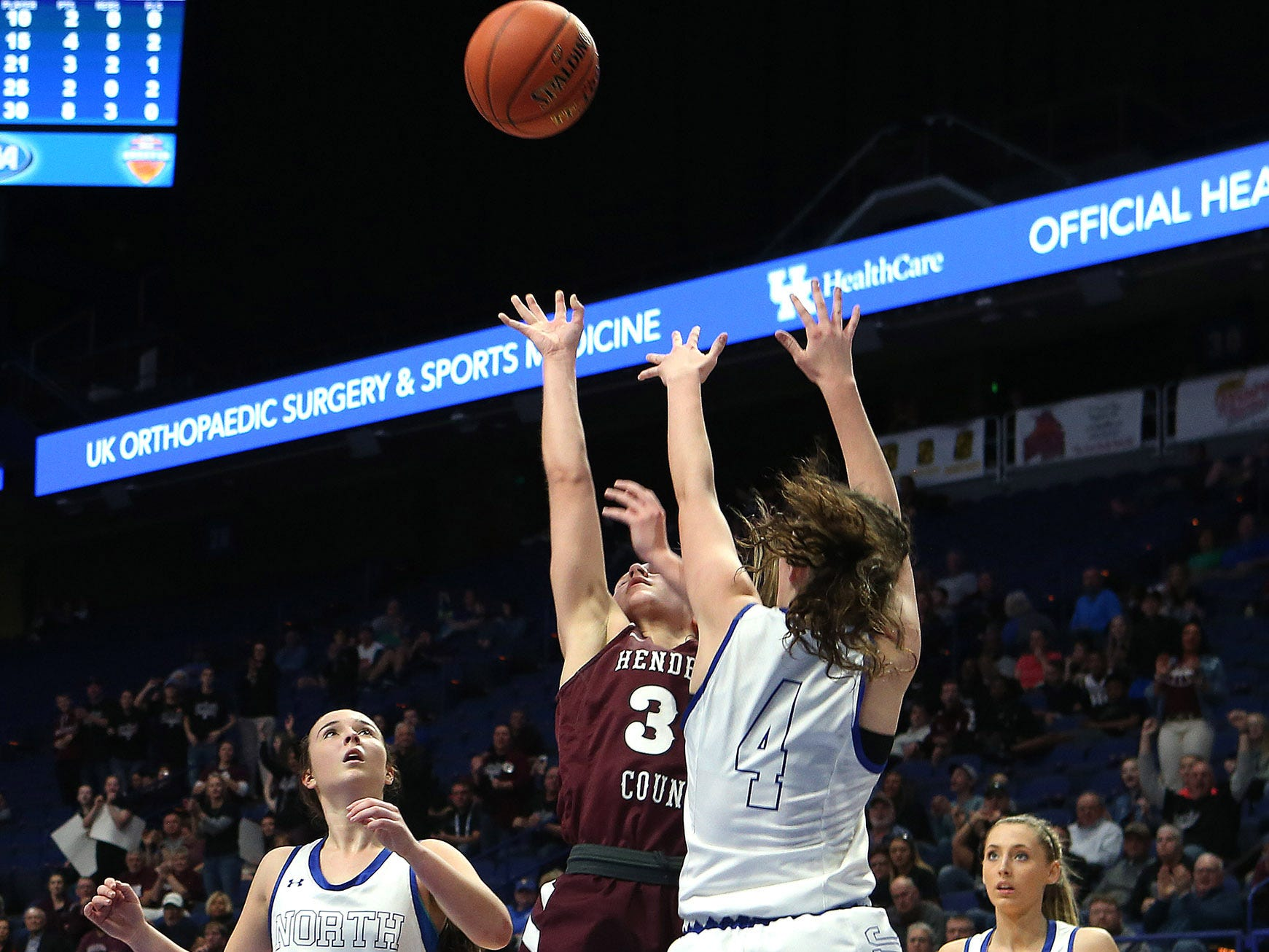 Henderson County's Emilee Hope shot Friday against North Laurel in Game 8 of the KHSAA Girls' Sweet 16 at Rupp Arena in Lexington.