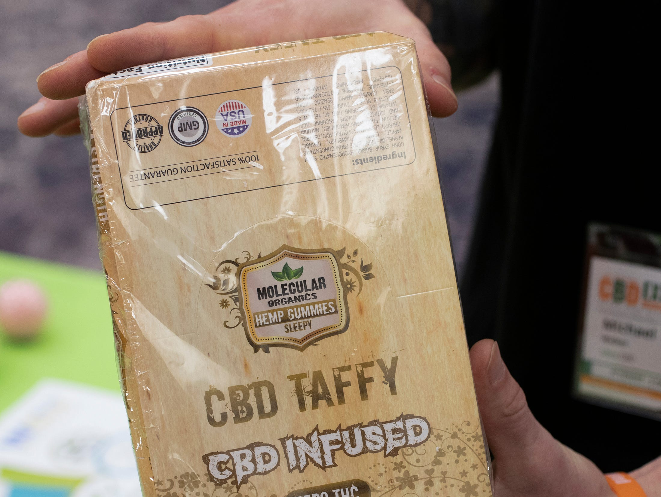 CBD Taffy from Molecular Organics at the CBD Expo at the Marriott East in Indianapolis on Friday, Mar. 15, 2019.