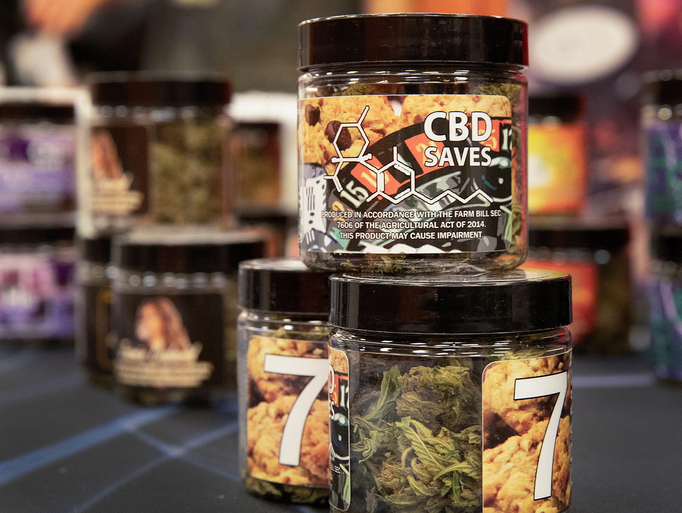 CBD Up In Smoke Hemp Flower at the CBD Expo at the Marriott East in Indianapolis on Friday, Mar. 15, 2019.