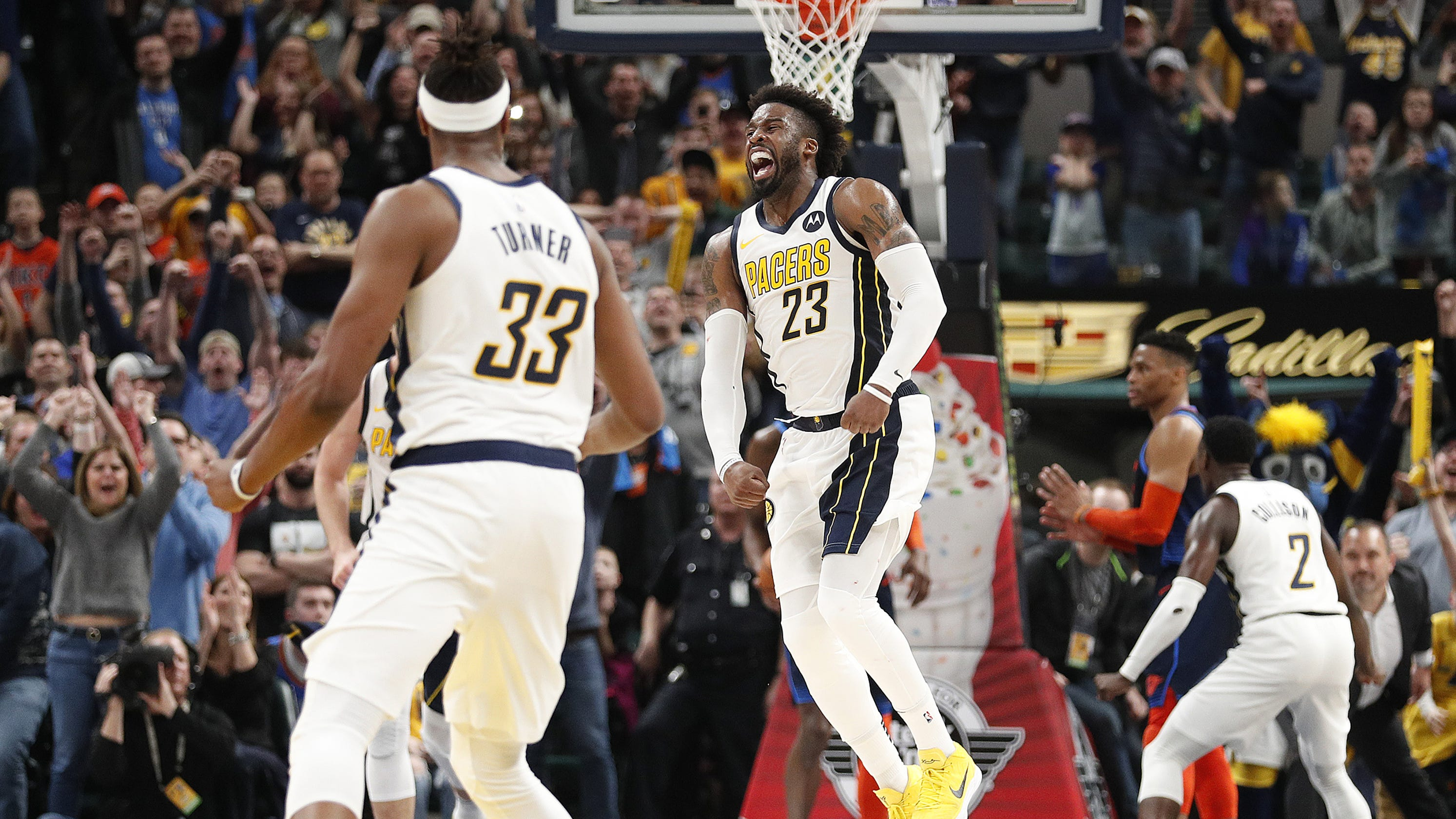 Wesley Matthews completes Indiana Pacers  comeback against the Oklahoma City  Thunder 264fc75e2