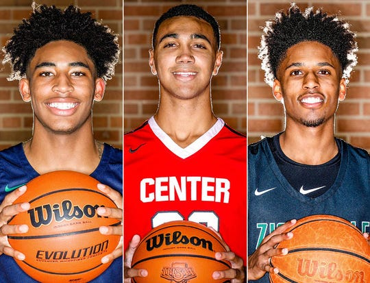 Left to right: Armaan Franklin, Trayce Jackson-Davis and Isaiah Thompson.