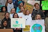 Indiana students skipped school Friday, March 15, 2019, to protest at the Indiana Statehouse, joining students around the world.