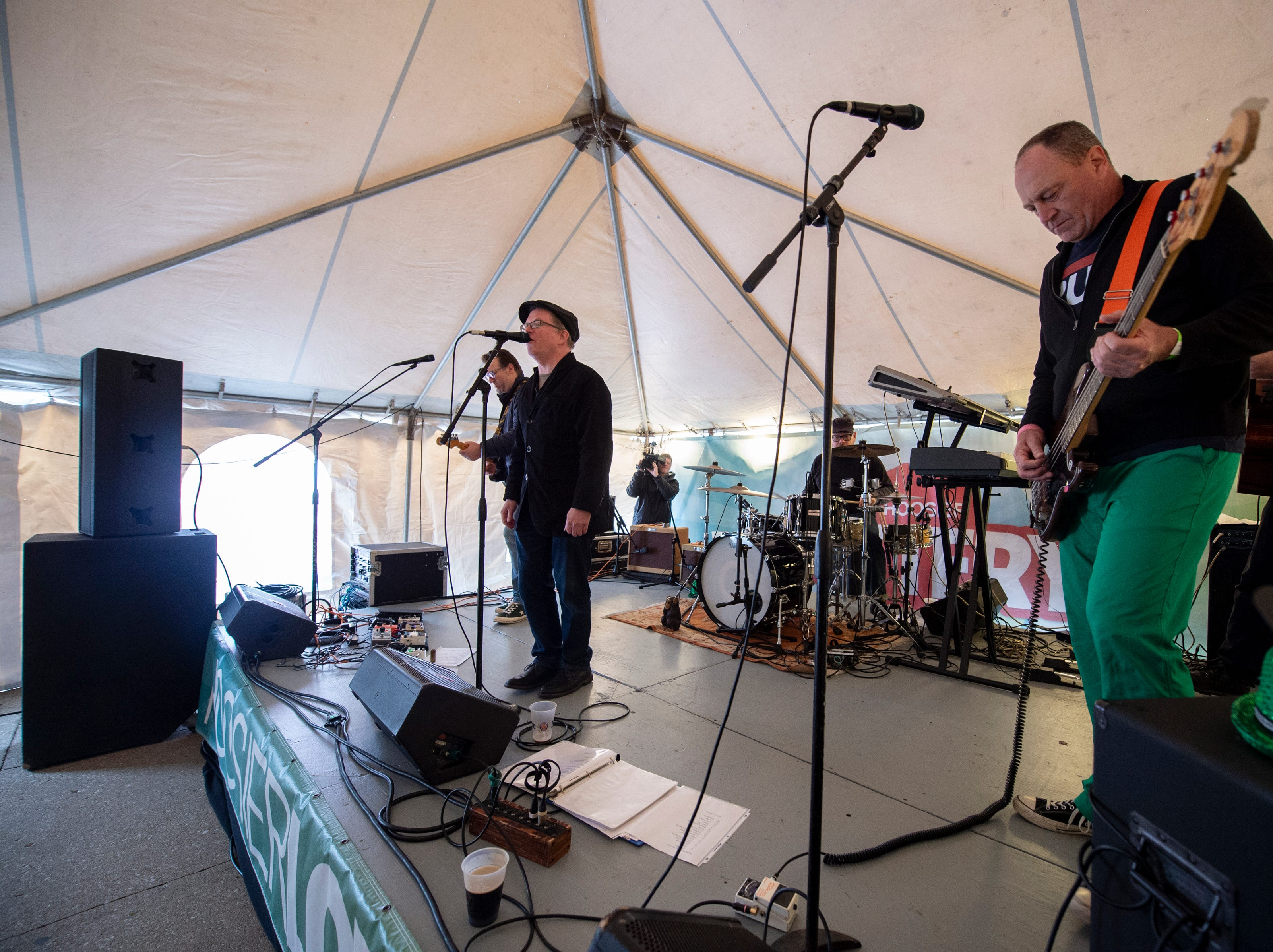 A Beautiful Day, a U2 tribute band, performs on the Hoosier Lottery Imagine That stage.The 39th annual St. Patrick's Day Parade navigated the streets of Indianapolis, Friday, March 15, 2019.