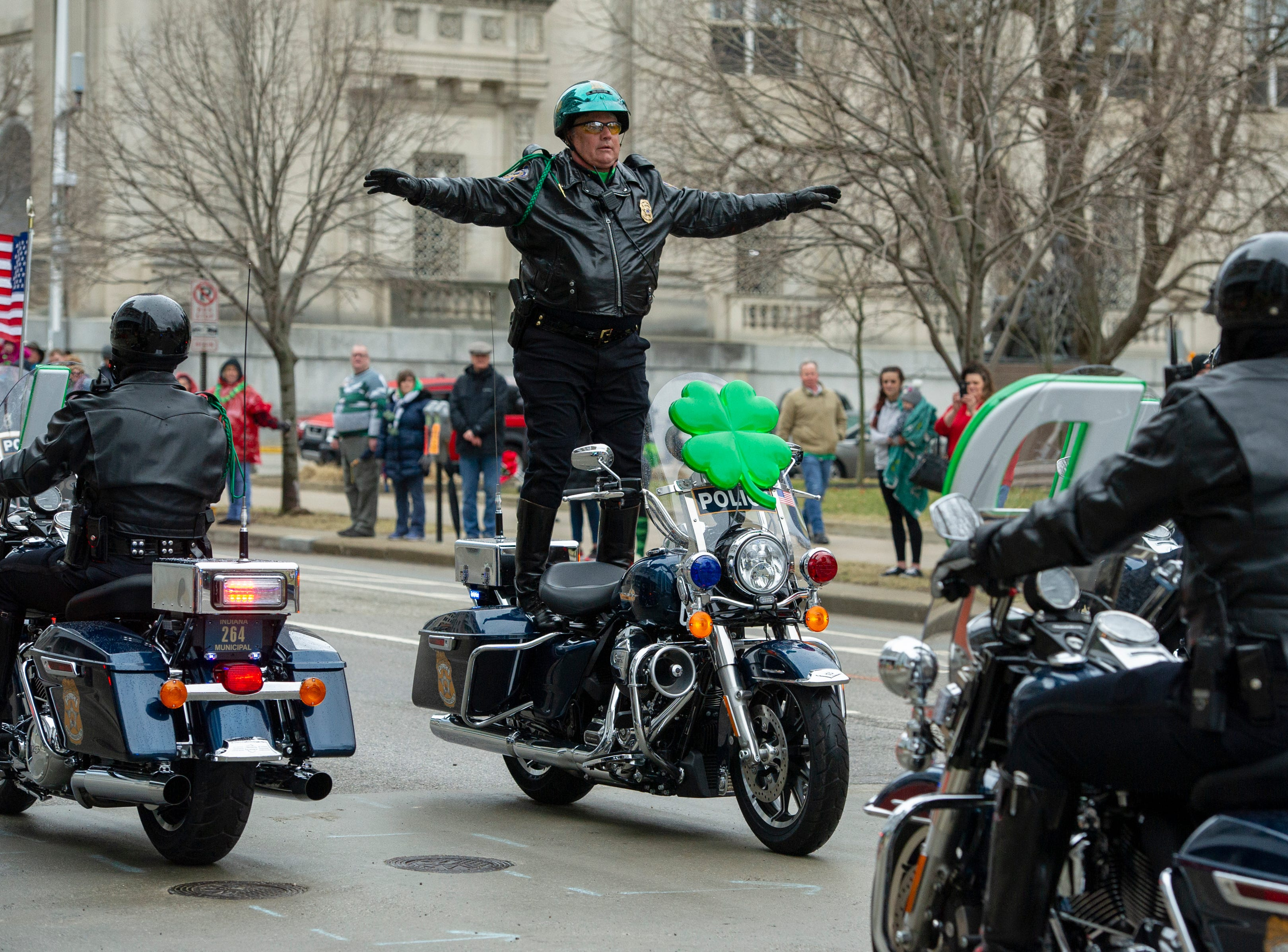The 39th annual St. Patrick's Day Parade navigated the streets of Indianapolis, Friday, March 15, 2019.