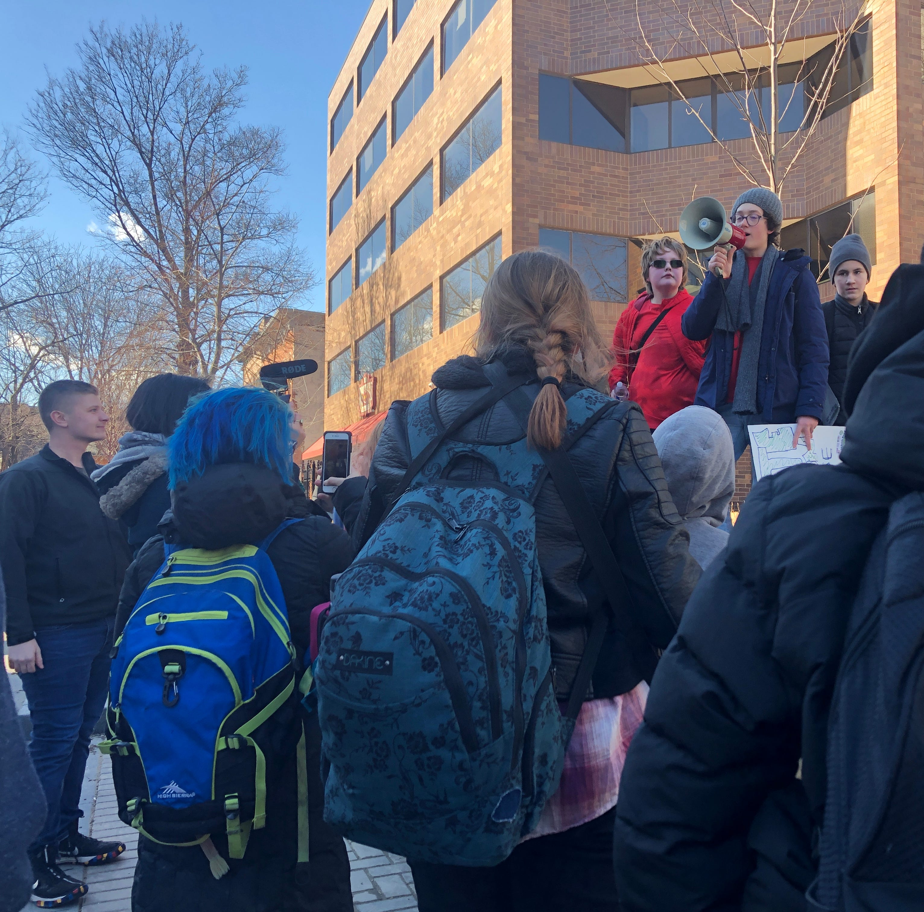 Iowa City students join international strike for climate