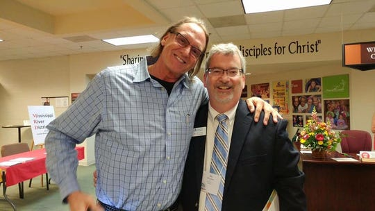 John Kilzer (left) and Sky McCracken pictured together after a church event in 2016.