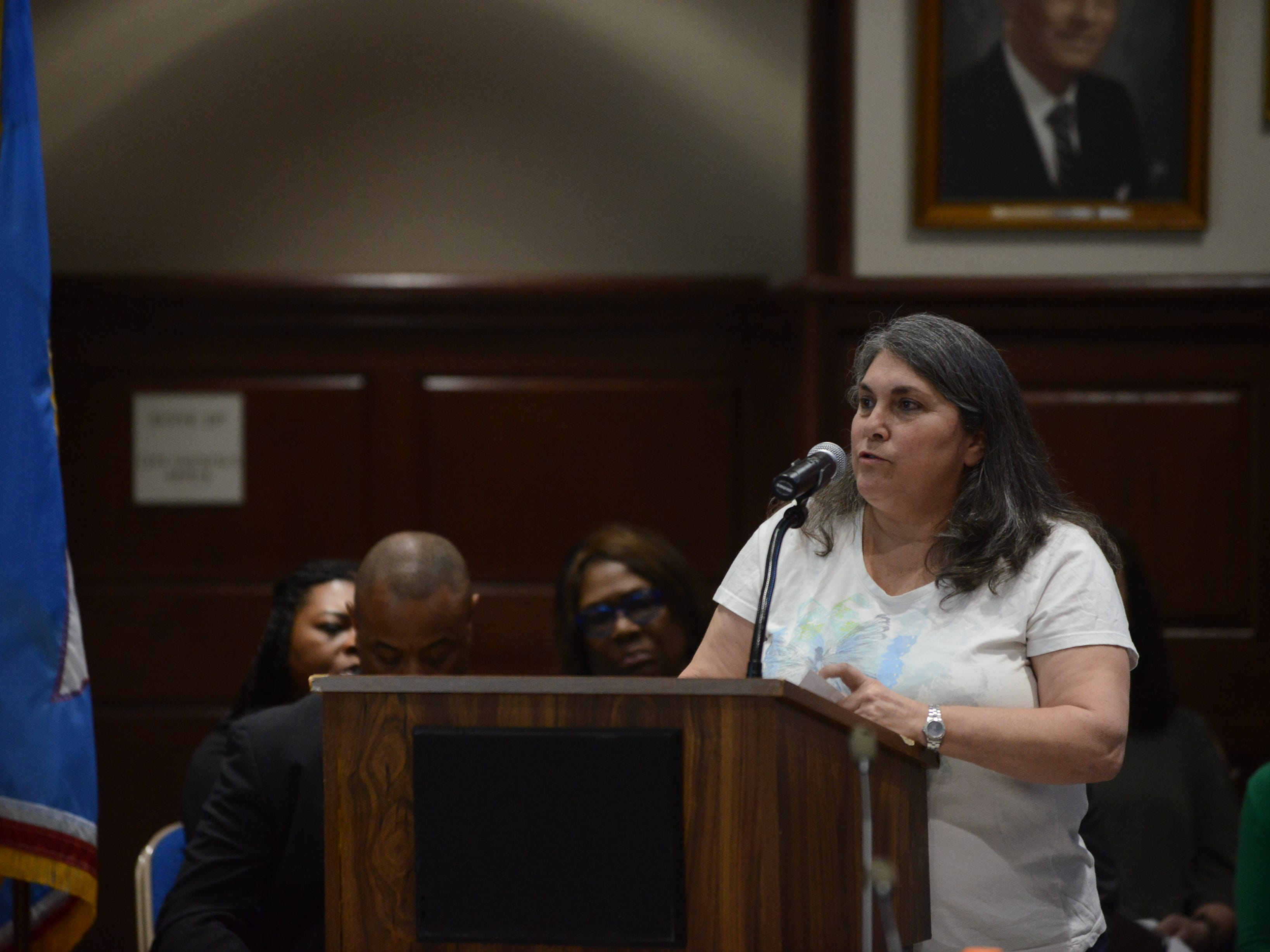 An East Elementary School teacher said JMCSS has made gains in education in recent years and spoke in support of Superintendent Eric Jones during public comment at the JMC school board meeting at Jackson City Hall on Thursday night.