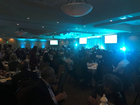 About 500 people were at Union University's Carl Grant Event Center for The Chamber's Annual Celebration on Thursday.
