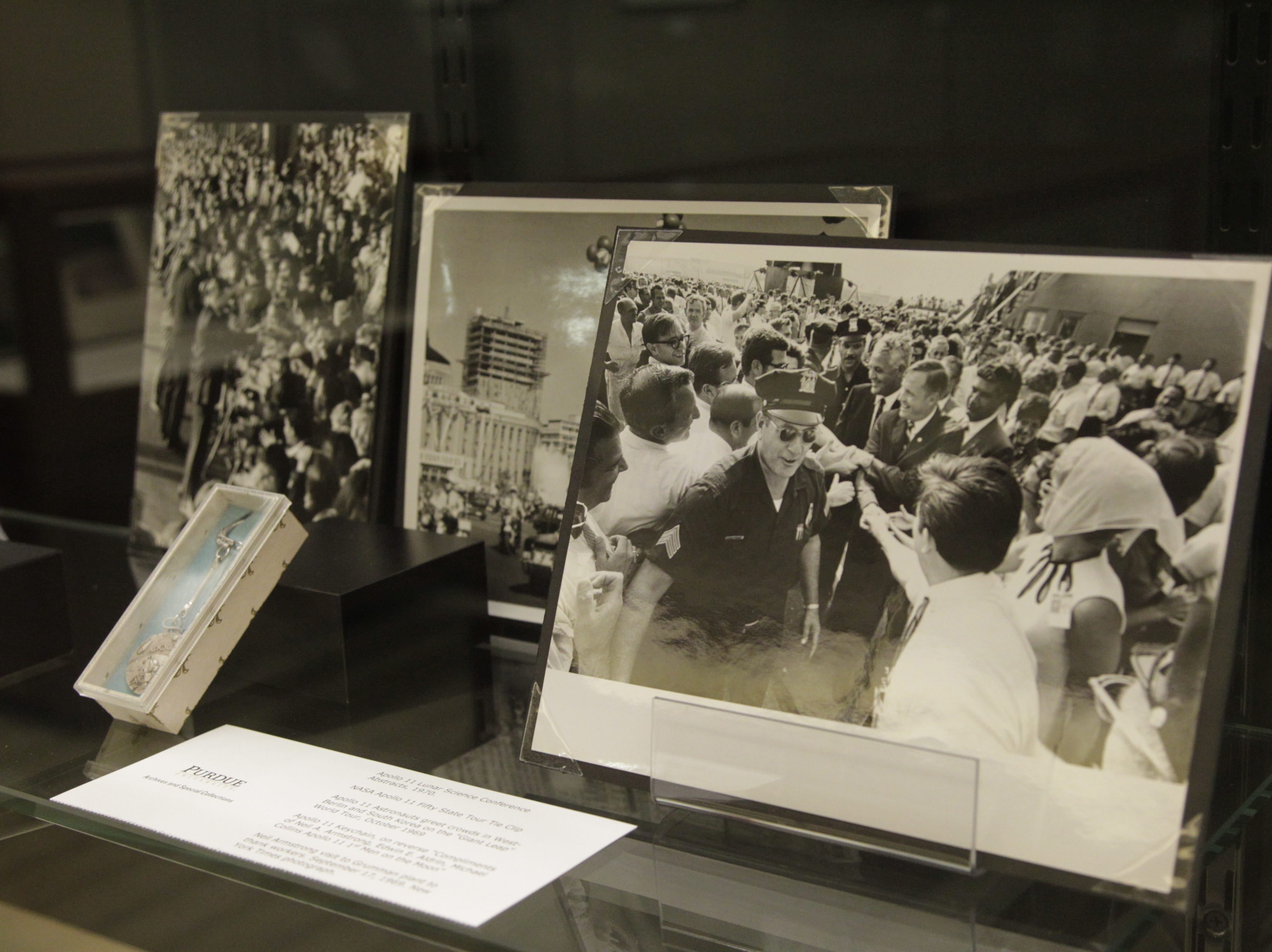 Grimm included many photos of Armstrong meeting fans as well as his written responses to fan mail.