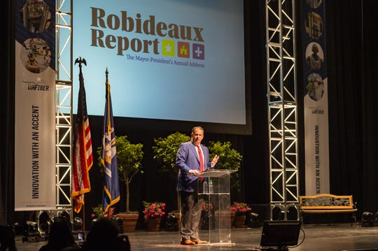 Lafayette Mayor-President Joel Robideaux delivers his annual Robideaux Report. Thursday, March 14, 2019.