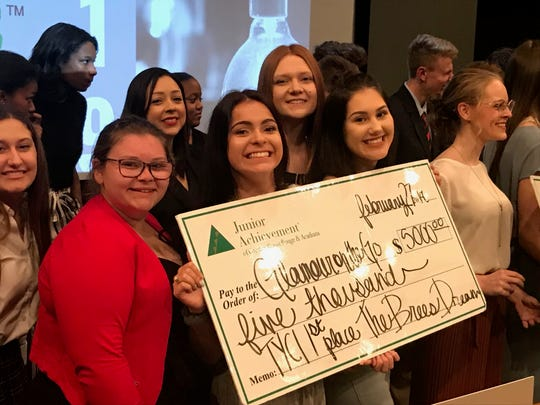 Acadiana High seniors Madison Romero and Kinsley Stelly won first place and $5,000 at the district competition of the Trust Your Crazy Idea Challenge, pitching a mobile salon called Glamour on the Go. They move on to the state competition March 25.