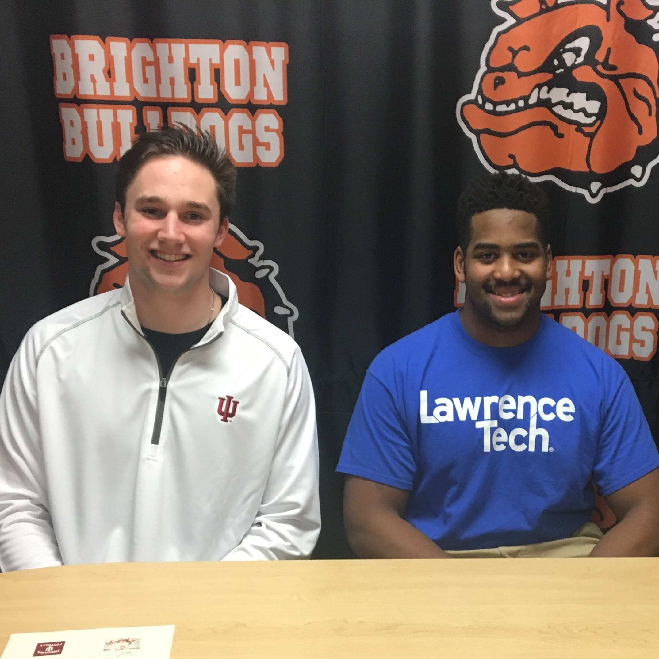 Brighton quarterback Will Jontz going to Indiana; two other Bulldogs sign with colleges