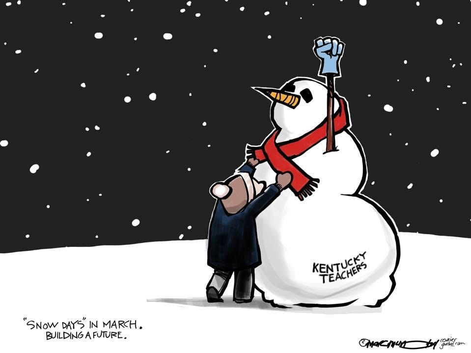 Kentucky Teacher Snow Days in Frankfort