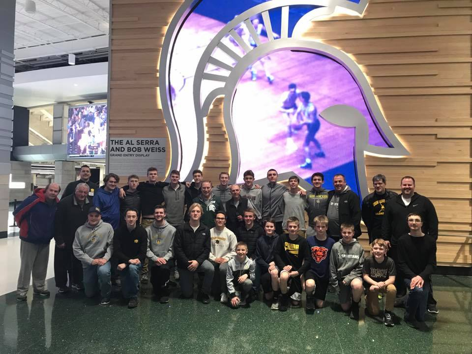 Iron Mountain's boy's basketball team spent time Wednesday and Thursday with MSU coach Tom Izzo at Breslin Center. Izzo grew up in Iron Mountain, Michigan.