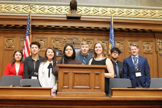 This Manitowoc County delegation of students participated in the 63rd annual YMCA Youth in Government Model Government Conference in Madison March 1-3.