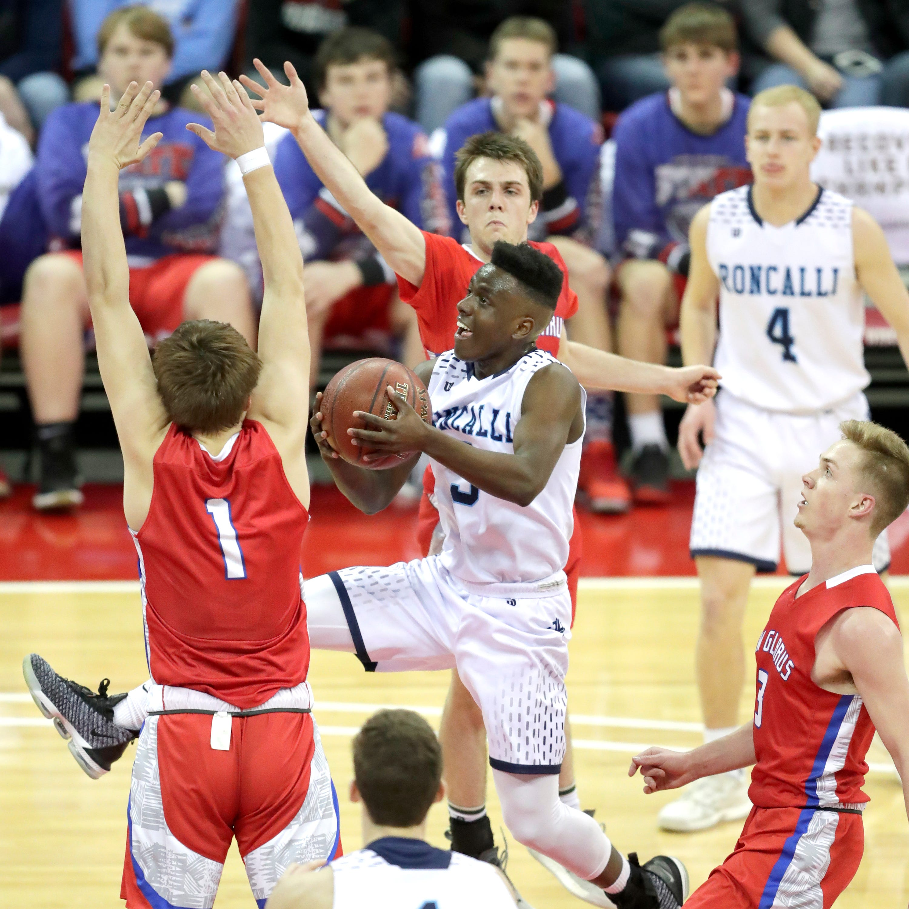 WIAA state basketball: Roncalli falls to New Glarus in Division 4 semifinal