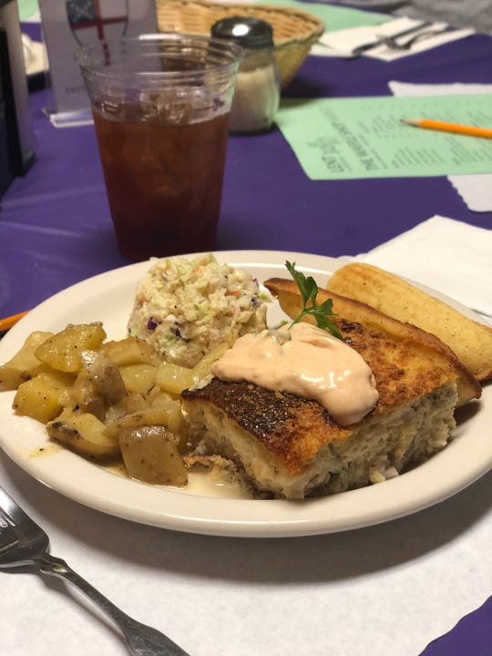 Fish pudding is a Memphis favorite at Calvary Episcopal Church's annual Waffle Shop.