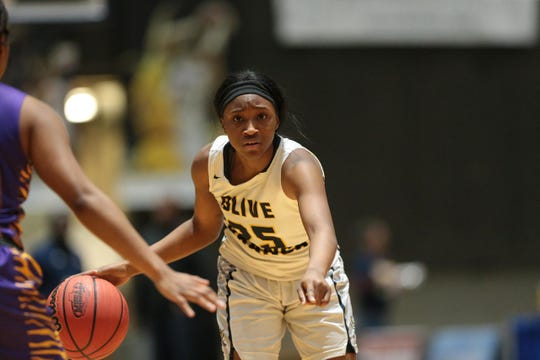 Olive Branch's Endya Buford is the Gatorade Mississippi Girls Basketball Player of the Year. She scored 36 points in the MHSAA Class 5A state championship game against West Jones.