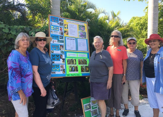 Calusa Garden Club members were treated to a guided tour of the Butterfly Garden at Calusa Park on Winterberry Drive.