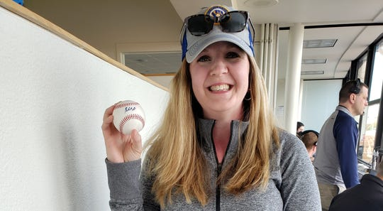 Brewers fan Amanda Siemandel