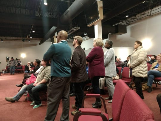 Milwaukee and Glendale residents line up to ask questions.
