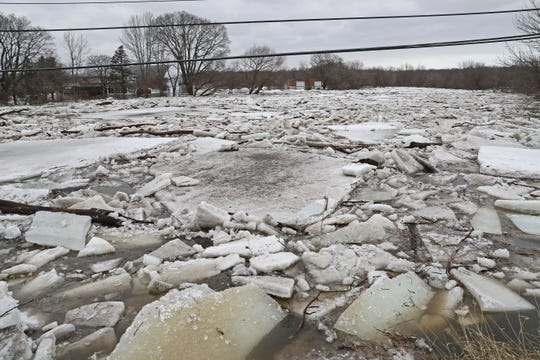 MMSD reported a combined sewer overflow of 281 million gallons last week, due to quickly melting snow. In Grafton, an ice-clogged   Milwaukee River on March 15.