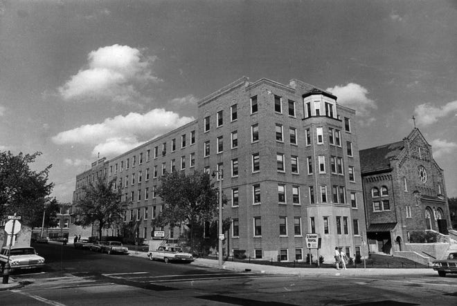 1965 photo of St. Anthony's Hospital at 1004 N. 10th St.