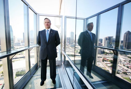 Ross Perot Jr. stands on a balcony outside the Ghost Bar in the W Hotel in Dallas in 2007.
