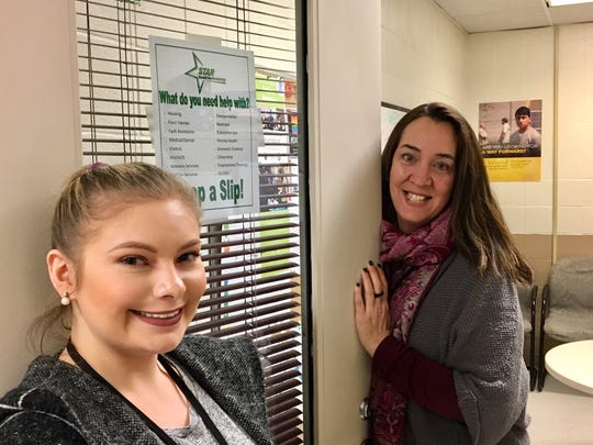 STAR case managers Sierra McEniry and Melissa Maney at their STAR office at the Morris County Correctional Facility.