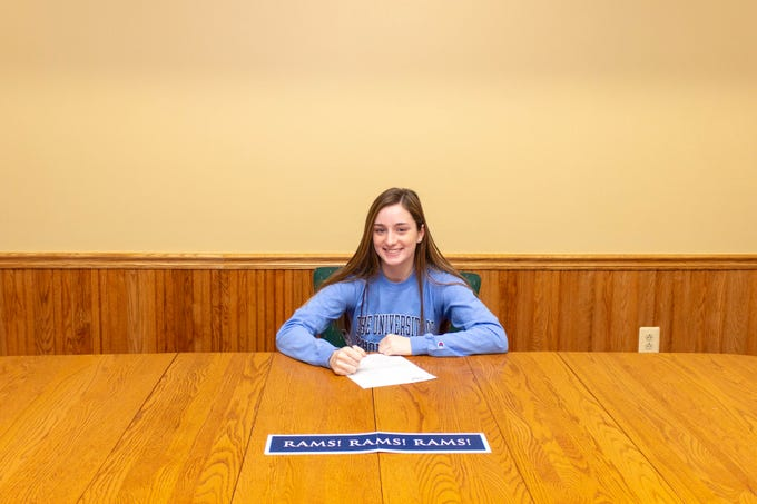 Roxbury senior Bridget Doherty signed a National Letter of Intent with Rhode Island track and field.