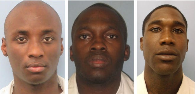 From left: Rashaud Dederic Morrissette, Terrence Griffin , and Quinton Ashaad Few.