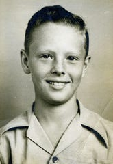 A school picture of a 12-year-old Morris Dees at Pike Road School in Pike Road, Ala., 1948.