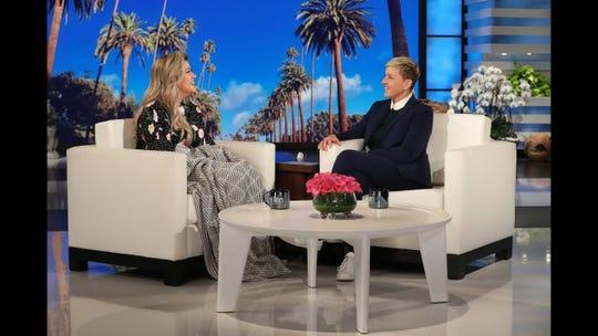 Kelly Clarkson appears on 'Ellen' on February 7, 2019.