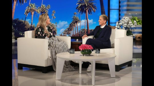 Kelly Clarkson appears on 'Ellen' on February 7, 2019.