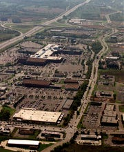 This was Cool Springs in 1999. This aerial view looking south already showed explosive growth.